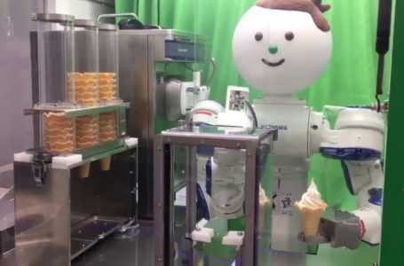 A Humanoid Robot that can Scoop You an Ice-Cream