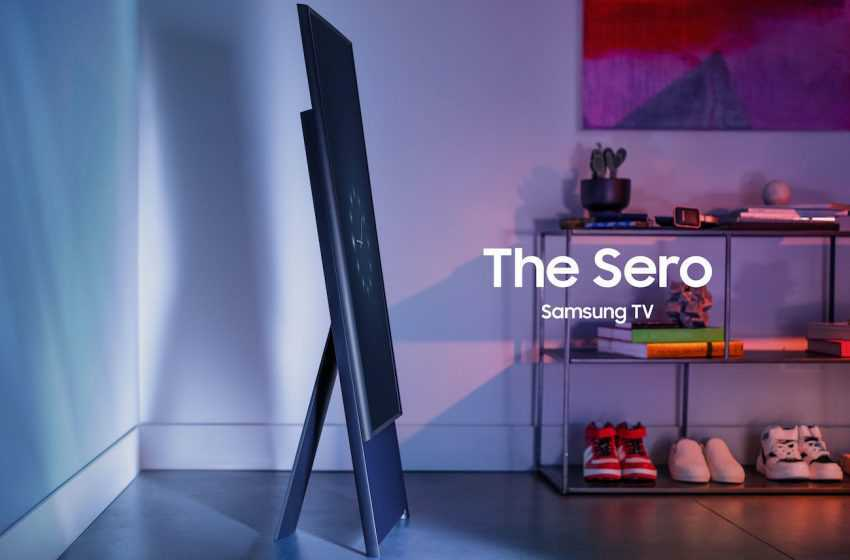 Samsung Demonstrates the Spinning Sero TV, which Swaps Between Vertical and Horizontal Modes